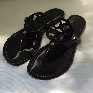 TORY Burch Black Miller Flats Sandal Slippers